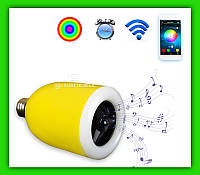 LED лампочка смарт Bluetooth с динамиком E27