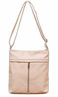 Жіноча сумочка через плече 001 (рожева)