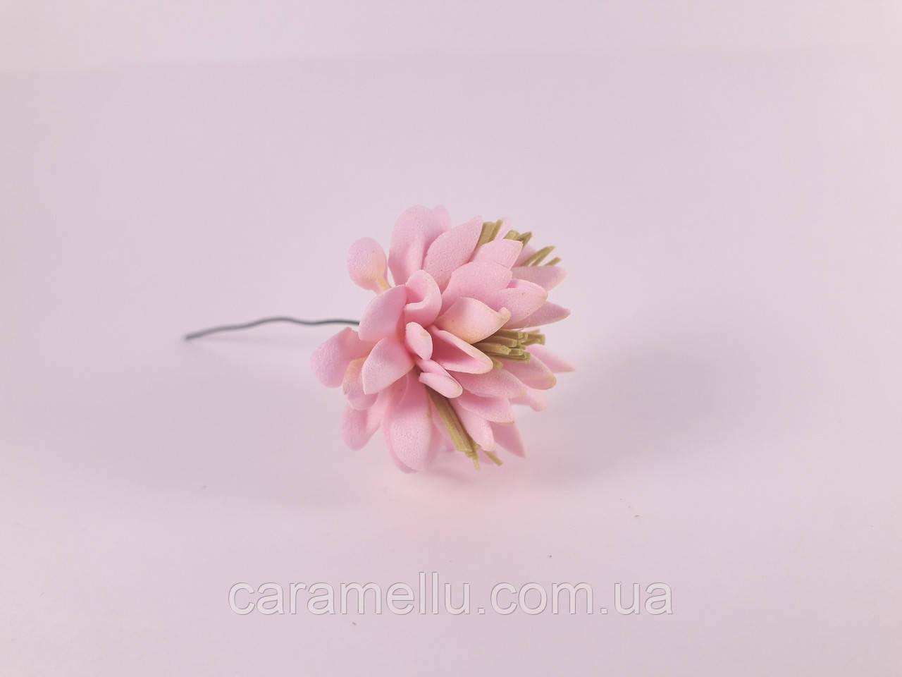 Клевер 3,5см 1шт.  Розовый с оливковым
