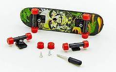 Фингерборд-мини скейт  (1фингерборд,2зап.колеса,1отвер,2винтика,2зап.подвески,пластик,металл)