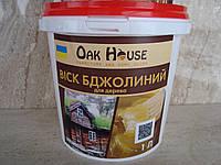 """Натуральный пчелиный воск для дерева """"Oak House"""" (бесцветный) 0,5 л, фото 1"""