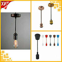 Подвесные потолочные loft светильники VOLTA и TESLA под лампы filament led