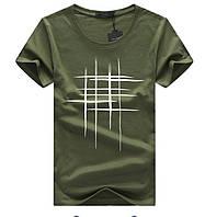 Мужская зеленая хлопковая футболка