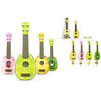 Гитара 77-06B2/3/4/5 4 вида микс, гитара 36,5*12*4, в коробке 41,5*15*5,3смв чехле 47см