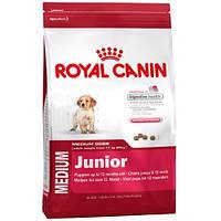 Корм Royal Canin (Роял Канин) MEDIUM JUNIOR для щенков в возрасте от 2 до 12 месяцев 15 кг