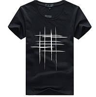 Мужская черная хлопковая футболка