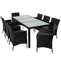 Комплект мебели из техноротанга BAHAMA (стекло 8 стульев)