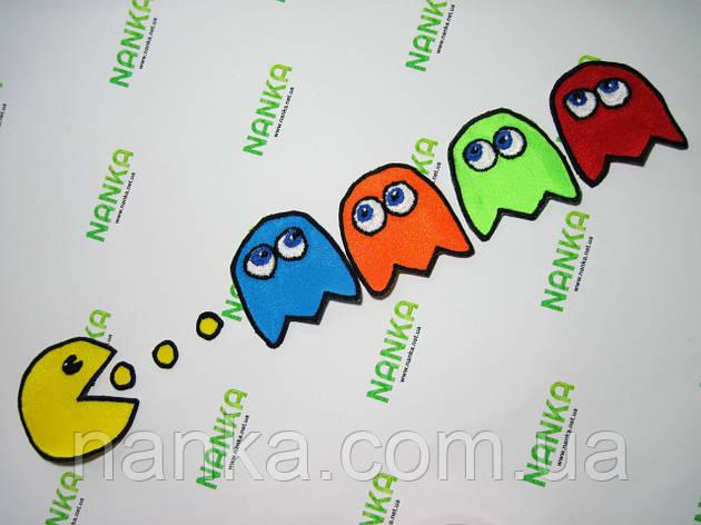 Тканевая нашивка аппликация Pac-Man № 225, фото 2