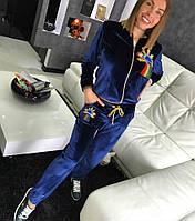 Женский бархатный спортивный костюм Космо