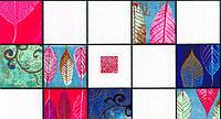 Обои влагостойкие мойка Листья 126-06 красно-синие