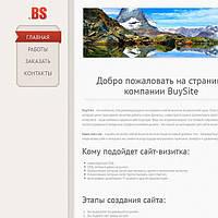 Сайт визитка недорого  (№2)