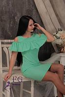 Летнее платье с воланом и карманами 103/1, фото 1