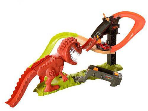 Трек 8899-91 машинки 2 шт., динозавр-звук, фото 2