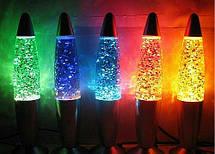 Лава лампа с блестками 42см , фото 3