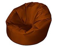 Коричневое большое кресло мешок из ткани Оксфорд
