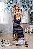 Летнее Нарядное женское Платье размеры 48-56 код 1730-2