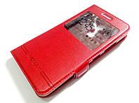 Чехол книжка с окошком momax для Lenovo K6 Power k33a42 красный
