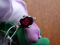 Серебряное  кольцо с натуральным гранатом, фото 1