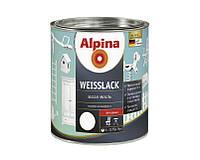 Эмаль алкидная Alpina Weisslack универсальная, глянцевая, 0.75л