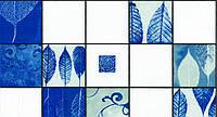 Обои влагостойкие мойка Листья 126-04 синие