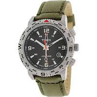 Мужские наручные часы Timex Men's Intelligent Quartz T2P286 Green Nylon Quartz Watch