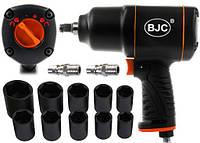 """Пневматический ударный гайковерт BJC-105 1/2"""" 1550NM + набор насадок 8-27mm, фото 1"""