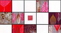 Обои влагостойкие мойка Листья 126-05 красный