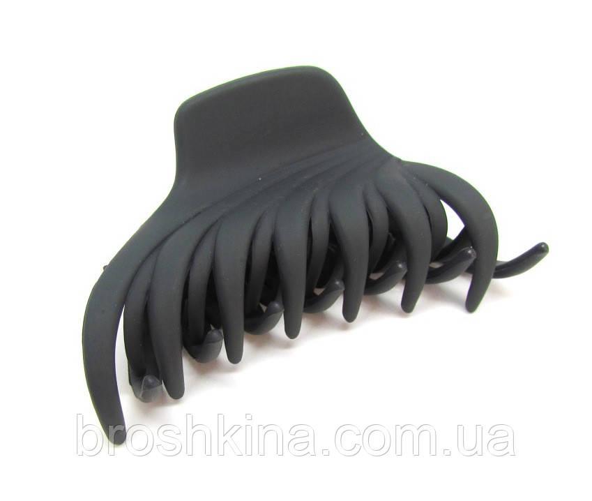 b6a73824f6ad Заколка-краб для волос каучук L 8,5 см серая
