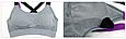 Спортивный топ с чашками цветные лямки (серый), фото 4