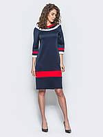 Яркое женское платье с контрастными вставками и рукавом 3/4 90295, фото 1
