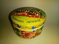 Шкатулка Канев Тарасова светлица дерево ручная роспись