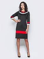 Яркое женское платье с контрастными вставками и рукавом 3/4 90295/1, фото 1
