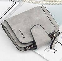 Женский замшевый кошелек бумажник гаманець Baellerry Forever Mini! Серый