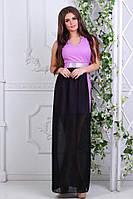 Красивое женское короткое платье с длинной шифоновой юбкой.