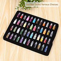Декор ногтей. Набор из 48 баночек разных цветов