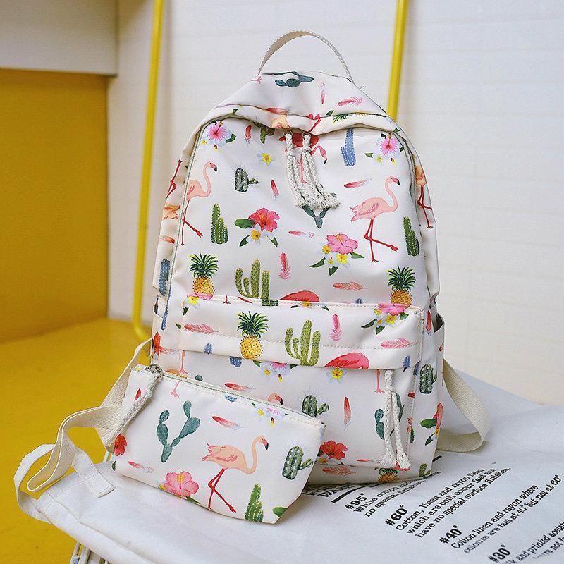 Стильний рюкзак з фламінго і кактусами