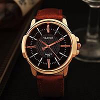 Мужские кварцевые часы YAZOLE classic (Brown/Black)