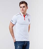 Мужская рубашка поло футболка белая