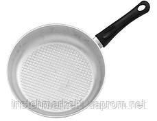 Сковорода БИОЛ А261 (диаметр 260 мм) с рифленым дном с крышкой, бакелитовая ручка, фото 2