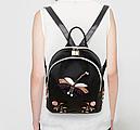 Рюкзак женский  Стрекоза с аппликацией, фото 5