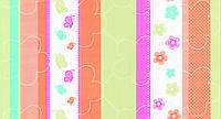 Обои бумажные Шарм Полоска детская  123-10  салатовый + оранжевый
