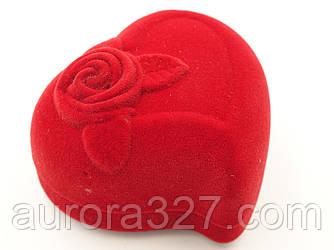 """Футляр для кольца """"Сердце с розой"""""""