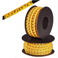 """Кабельная маркировка  (в катушках)  EC-0 """"0"""" (0.75-1.5мм2) 1000шт"""