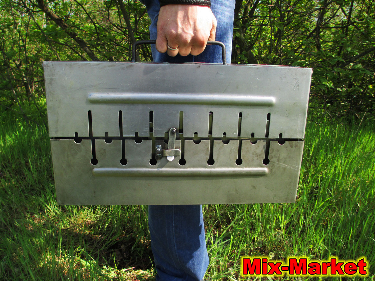 Раскладной мангал - чемодан на 8 шампуров + ПОДАРОК