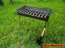 Розкладний мангал - валізу на 12 шампурів + ПОДАРУНОК