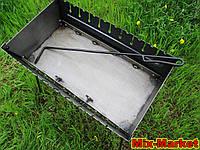 Розкладний мангал - валізу на 10 шампурів + КОЧЕРГА В ПОДАРУНОК, фото 1