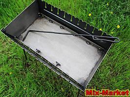 Розкладний мангал - валізу на 10 шампурів + КОЧЕРГА В ПОДАРУНОК