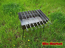 Розкладний мангал - валізу на 8 шампурів + КОЧЕРГА В ПОДАРУНОК