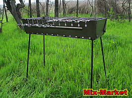 Розкладний мангал - валізу на 12 шампурів + комплект шампурів