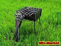 Раскладной мангал - чемодан на 6 шампуров + комплект шампуров